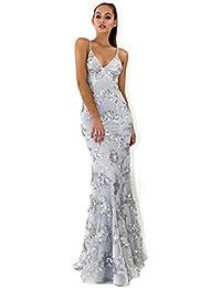 6b1948119f GOYING Vestido de Boda de Las Mujeres del Verano Vestido Sexy Vestido de  Lentejuelas Correa