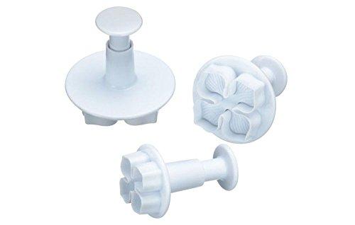 Flissy - Set di 3 stampi per dolci, biscotti e decorazioni in glassa, motivo: Hydrangea