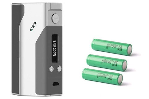 WISMEC Dna200 with Samsung 25R Batteries - Pack of 3