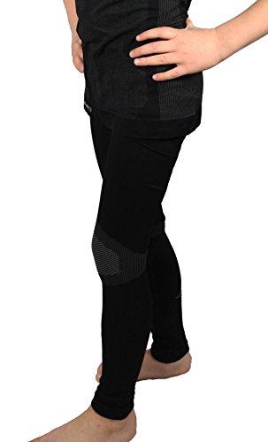 2 Kinder Funktions Unterhosen Skiwäsche Jungen Mädchen grau- schwarz Gr. 158/164 günstige preiswerte unterkleid hemd rundhals ski wintersport unterhose kind atmungsaktiv unterhemden sport spiel