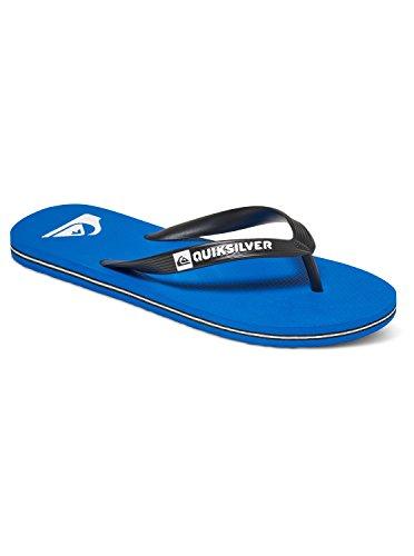 Quiksilver Molokai-Flip-Flops For Men, Zapatos de Playa y Piscina para Hombre, Negro Blue/Black Xkbk, 44 EU