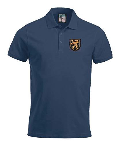 Old School Football Belgien 1960\'s Fußball Polo Größen S-XXXL Gesticktes Logo