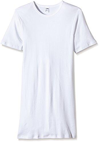 HERMKO 3847 3er Pack Herren extralanges kurzarm Shirt (+10cm), Farbe:weiß, Größe:D 6 = EU L -