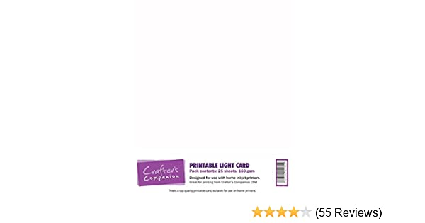 Crafter/'s Companion High Quality A4 Printable Light Card 160gsm Pack 25 Sheets