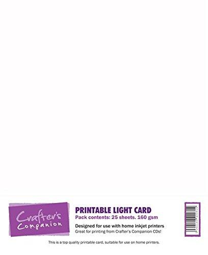 Crafter's Companion - Bedruckbarer Karton, Weiß, 160 g/m², 25 Blatt