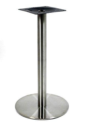 Tischplatte Tischfuß (Tischgestell 105 cm, Tischfuß, Edelstahl, runder Fuß aus Polyresin