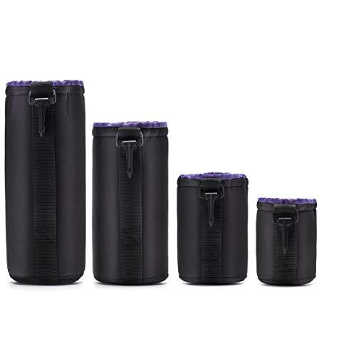 Heaviesk Neopren Dslr Camera Lens Pouch Schutztasche Case Set (4er Pack) von Altura Photo Panasonic Belt Clip