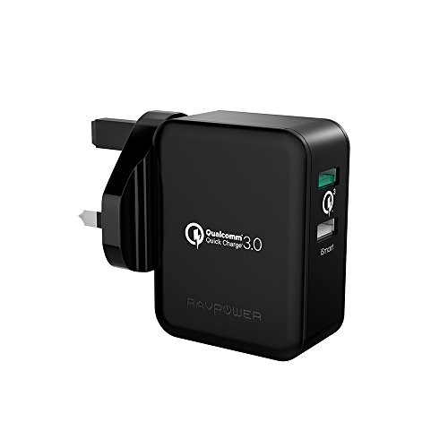 dual-usb-charger-ravpower-30w-turbo-charger-lifetime-warranty-fast-charger-with-quick-charge-30-for-