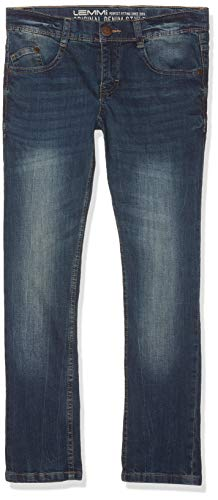 Lemmi Jungen Straight Leg Hose Jeans Regular fit MID, Gr. 164, Blau (blue denim|blue 0013)