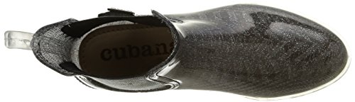 Cubanas - Rainy600, Stivali Donna (argento)