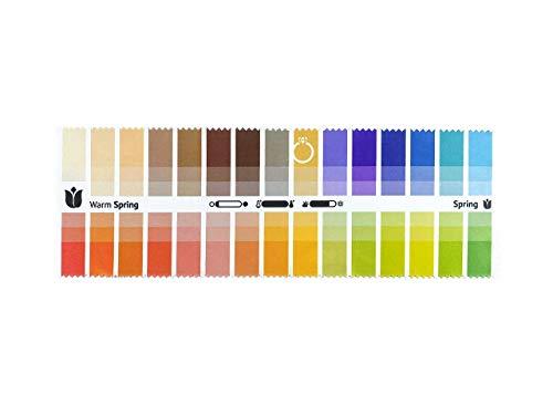 Abanico de telas de colores primavera calida (Warm Spring) con 30 colores...