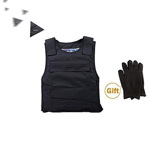 HYLH Stichsichere, stichsichere Taktische Körperweste Sicherheitsjacke Stichsichere Sicherheitsweste (Weste Set Schokolade)