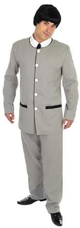 Costume de Beatles années 60 pour homme Gris taille M