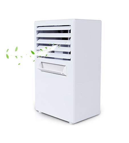 QCRLB Air climatisé, mini refroidisseur d'air, réfrigération portable petit climatiseur, vaporisateur petit ventilateur créatif étudiant dortoir bureau électrique ventilateur Ventilateur