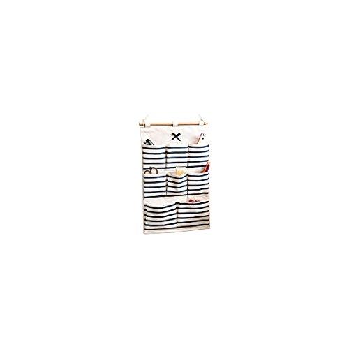 Wand hängenden Beutel Tasche Tür zurück Aufbewahrungstasche Hängende Rückwand hing Türtasche BaumwolltuchMehrschicht-Aufbewahrungstasche Hängeorganizer Multifunktionale Wohnzimmer 49x34.5 (Blau)