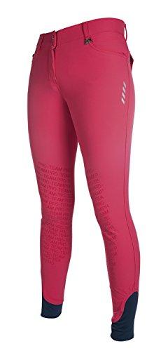 HKM PRO-Team Reithose -Neon Sports- Silikon Kniebesatz, pink, 40