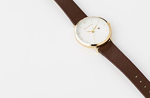 Alexander Gray Damenuhr - Vergoldete Armbanduhr Modell VENEZIA mit weichem Lederarmband und ultradünnem Gehäuse – zeitloses Design für jeden Anlass - 4