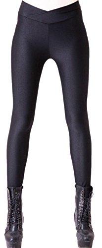 Crazy Dance Damen Kostüme (erdbeerloft - Damen Mädchen Leggins Leggings Fluoreszierend V-Bund Bunt, One Size S-M-L,)