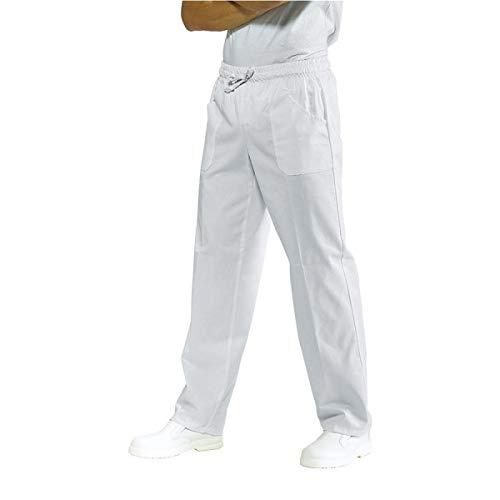 Isacco Pantalone con elastico Bianco, Bianco, XL, 100% Cotone, 190 gr/m²