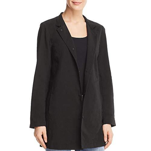 Eileen Fisher Womens Notch Long Jacket -
