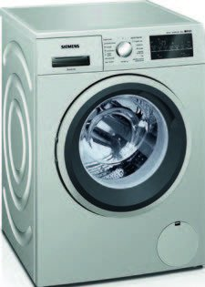 Siemens IQ500�wm12t49�X is Independent Front Loading 8�kg 1200rpm A + + + Stainless Steel�-�Washing Machine (Freestanding, Front Loading, Stainless Steel, Left, LED, White)