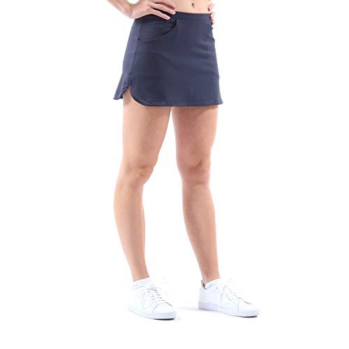 Sportkind Mädchen & Damen Tennis/Hockey/Golf Classic Rock mit Taschen & Innenhose, navy blau, Gr. 152