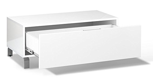 TV-Unterschrank Cambados 06, Farbe: Weiß - 40 x 100 x 50 cm (H x B x T) (18 Unterschränke Tiefe)