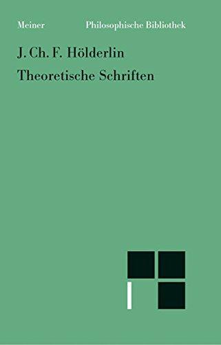 Philosophische Bibliothek, Bd.509, Theoretische Schriften.