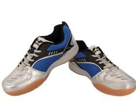 Nivia 155BL Synthetic Badminton Shoes - 3 UK (Blue)