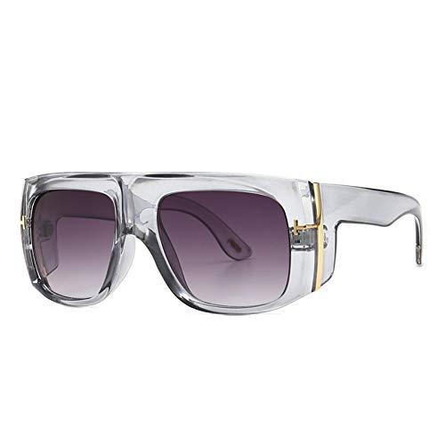 Taiyangcheng Polarisierte Sonnenbrille New Vintage Quadrat Sonnenbrille Frauen Brille Herren Sonnenbrille Weibliche Modemarke Designer Allmähliche Brillen Uv400,grau