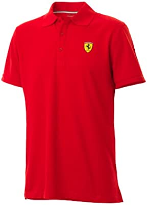 Ferrari - Polo clásico, color rojo