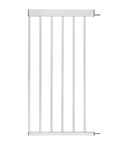 ♥ Türschutzgitter-Zubehör von BOMI   Größen: 10-70 cm   klemmbar in weiß aus Metall   Schutzgitter von BOMI Vergrößerung des Treppenschutzgitters durch Anstecken der Erweiterung   40 cm Verbreiterung