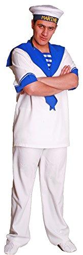 Kostüm Teiliges Matrosen 2 - Unbekannt Navy Matrosen Kostüm für Herren Gr. 56