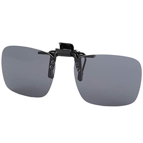 BEZLIT Sonnenbrille Brillen Pol Aufsatz Polarisiert Clip On Polbrille Sonnenbrillenaufsatz Schwarz