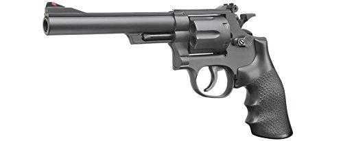 UHC M-19 6 Zoll Softair Revolver mit Hülsen 6mm BB schwarz (Softair Uhc Revolver)
