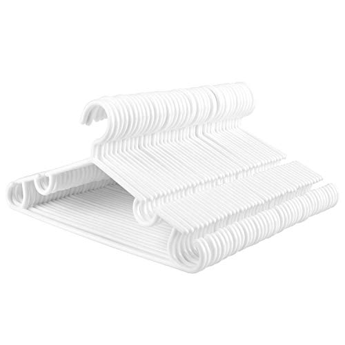 Homfa 40 Stück Kleiderbügel für Kinder/Baby weiß 32cm Kinderbügel Wäschebügel aus hochweritigem Kunststoff Anzugbügel Jackenbügel