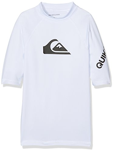 Quiksilver Jungen All Time T-Shirt, Bright White, FR : M (Taille Fabricant : 12)
