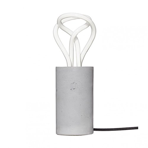 Unrefined® Beton Tischleuchte PLUM Grau für die Plumen 001 Glühbirne (Grau Plum)