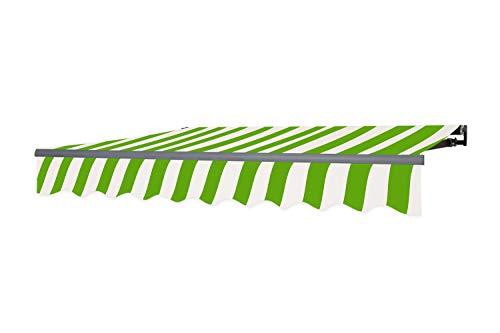 empasa Gelenkarmmarkise Markise Sonnenmarkise Sonnenschutz viele Farben und Größen wählbar Alu/Polyester