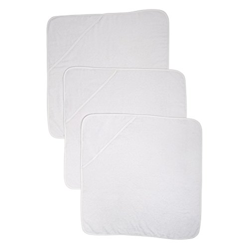 Mothercare Cuddle 'N' Dry Hooded Towels, Pack of 3, White
