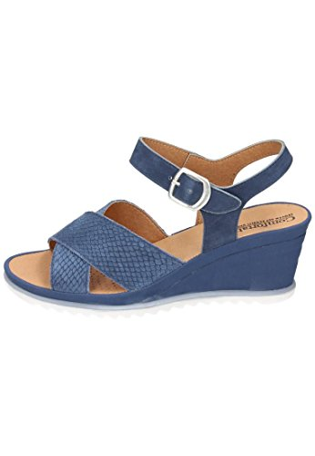 Comfortabel Damen Sandale Blau