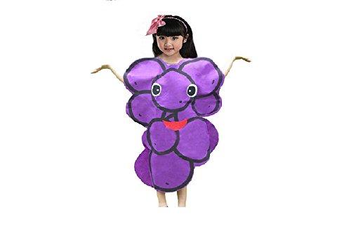 Matissa Früchte Gemüse und Natur Kostüme Anzüge Outfits Kostümfest für Jungen und Mädchen (Lila trauben)