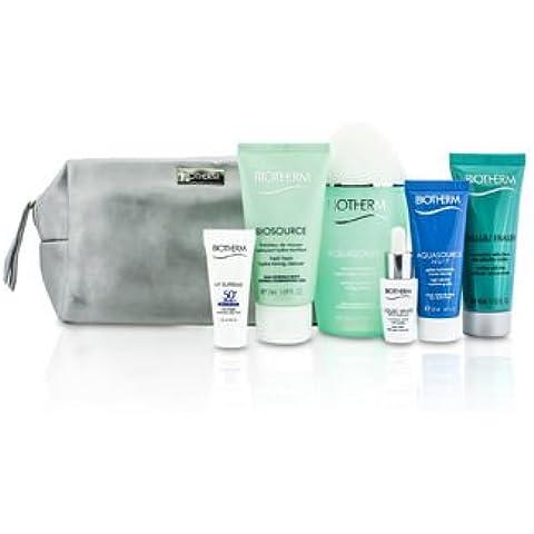 Travel Set: Aquasource Lotion + Cleanser + Corrector + Celluli Eraser + UV Supreme + Aquasource Nuit Jelly + Bag 6pcs+1bag