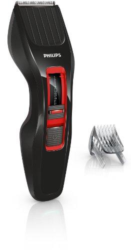 Philips Haarschneider (Dual Cut Technologie), Akku/Netz HC3420/15, 180 Watt, schwarz-rot