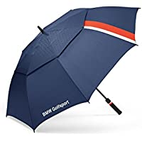 BMW Golfsport 80232446379 - Paraguas de Golf, 1,3 m, Doble toldo, Salida de Viento, teflón