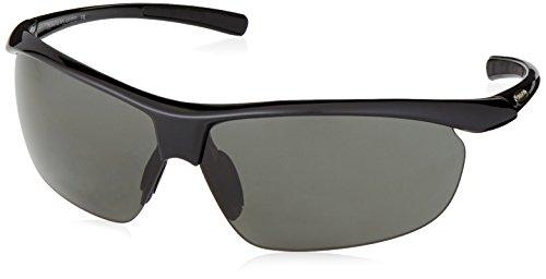 Suncloud Zephyr +2.50 Polarized Reader Sunglasses, Black Frame, Gray Polycarbonate Lenses