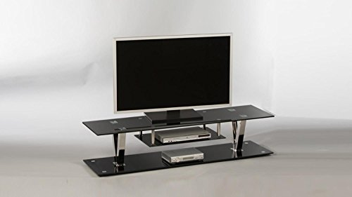 Stella Trading Lowboard Bitonto 16832 TV-Möbel Fernsehmöbel TV-Untergestell Schwarz lackiert