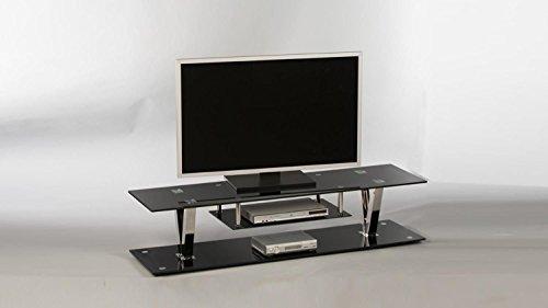 fernsehmoebel glas Stella Trading Lowboard Bitonto 16832 TV-Möbel Fernsehmöbel TV-Untergestell Schwarz lackiert