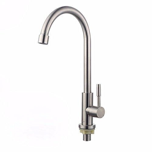 Preisvergleich Produktbild SDKIR-Erkältung mischbatterie Einhebel Küchenarmatur Waschtisch Armatur aus Edelstahl 304 Hahn, Big Bend