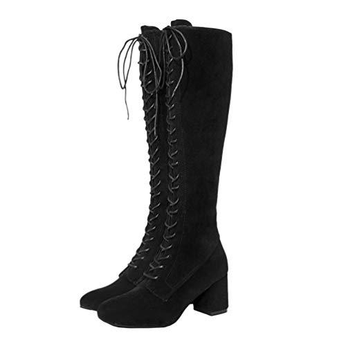 Holibanna Mujer Botín Zapatos Botas Invierno Otoño Botas Altas Zapatillas de Moda Botines